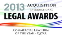2013 Commercial Law Firm Of The Year Award logo qatar